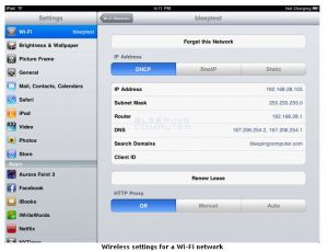 wlan settings ipad